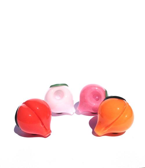 Peach pipes in (R to L) Blush, Snow, Pink, Creme de Peche