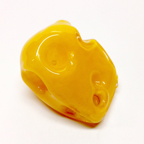 Cheese Wedge Shaped Glass Pipe Smoking Bowl