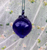 Hand Blown Mini Blueberry Glass Ornament