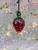 Hand Blown Mini Strawberry Glass Ornament
