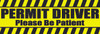 Decal-Permit Driver-1 flo yellow