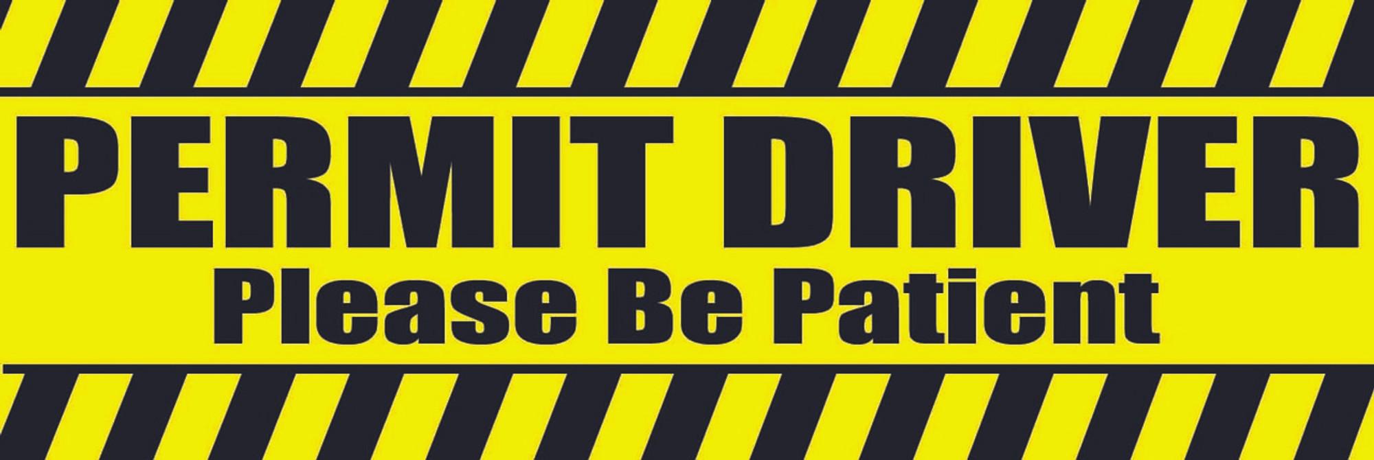 9e6c40dea9e17 Decal-Permit Driver-1 flo yellow - Onestringer