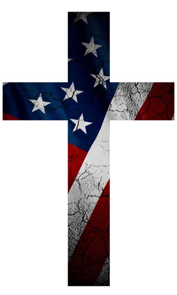 Decal-American at the Cross