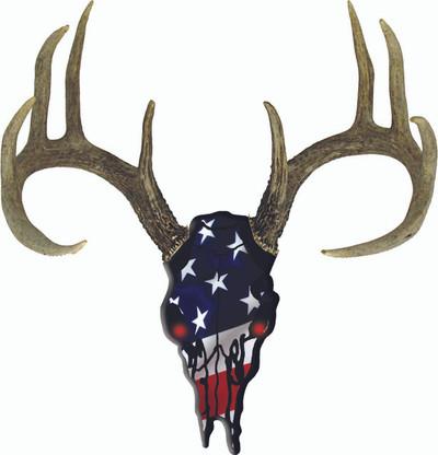 Decal-Deer Skull USA