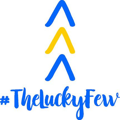 Decal-#TheLuckyFew-Blue and Yellow