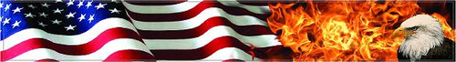Arrow Wraps-Burning Eagle Flag