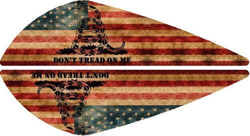 Vane Decal-Don't Tread On Me Flag