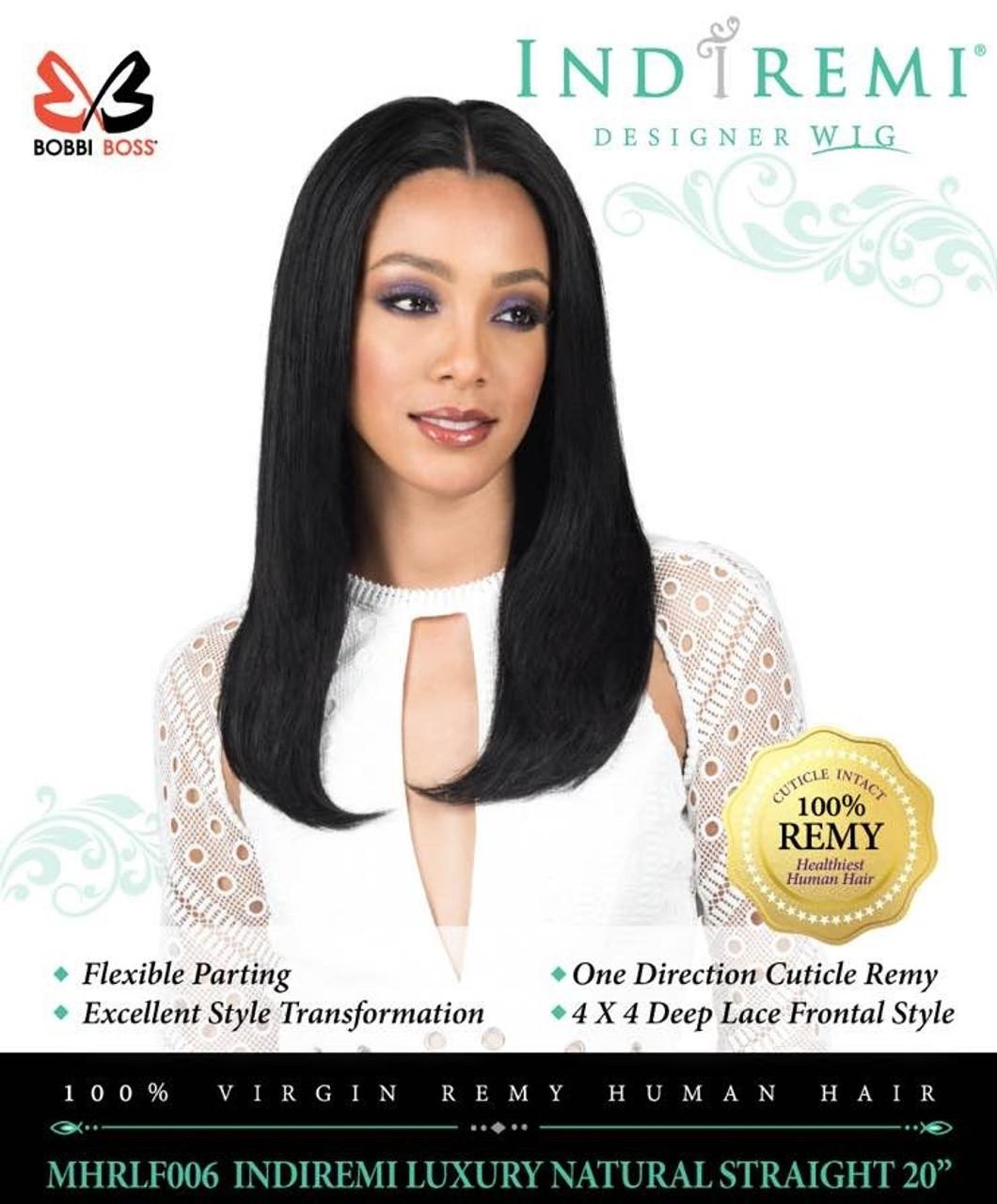 a1852efc3 Bobbi Boss INDI REMI 100% Remy Hair Designer Lace Wig Natural Straight