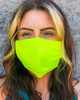 Buffalo Outdoors Hi Vis Yellow Washable Face Cover Front View