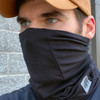 Buffalo Outdoors® Charcoal-Black Protective Neck/Face Gaiter Product Over Face