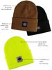 Buffalo Outdoors Buffalo Winter Knit Reflective Work Hat Hi Vis Yellow Variety
