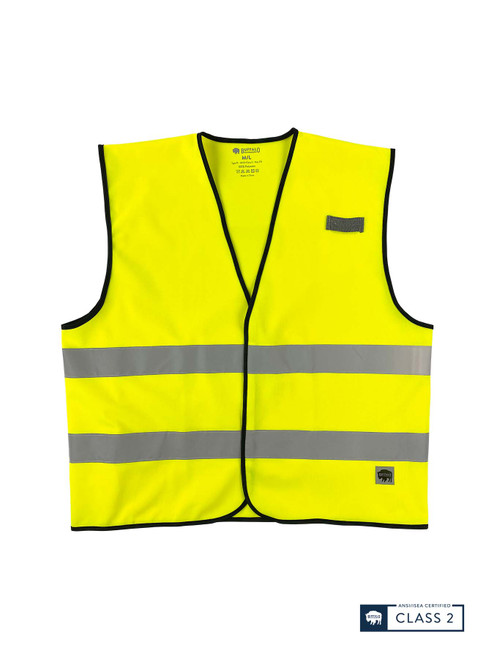Buffalo Outdoors Class 2 Hi Vis Reflective Safety Work Vest Front