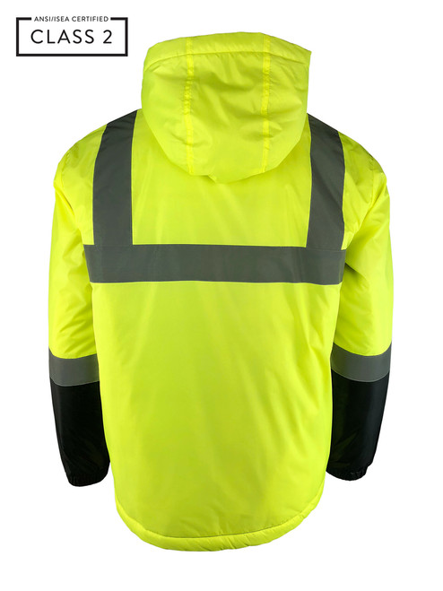 Buffalo Outdoors® Class 2 Hi Vis Safety Two-Tone Lightweight Field Jacket 2.0 Back