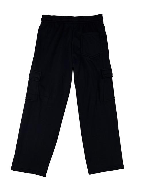 Buffalo Outdoors Fleece Cargo Pants Black Back View