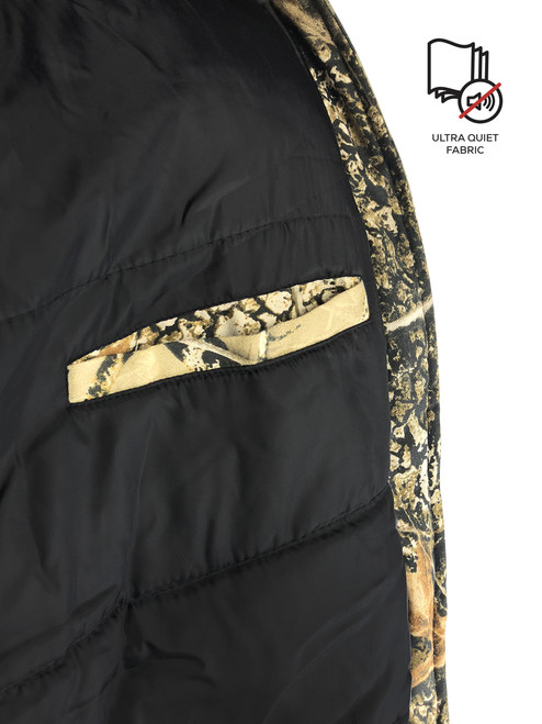 Buffalo Outdoors Camo Winter Jacket Pocket Detail Ultra Quiet Fabric
