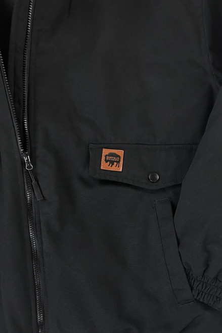 Buffalo Outdoors Ranger 205 Black Winter Bomber Jacket Pocket Detail