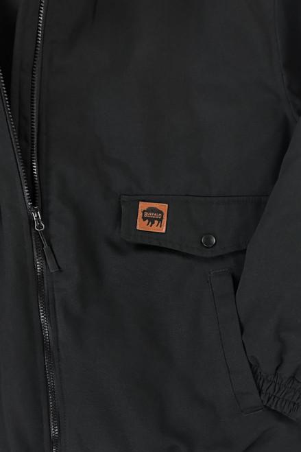 Buffalo Outdoors Ranger 205 Black Winter Bomber Jacket Pocket Detail