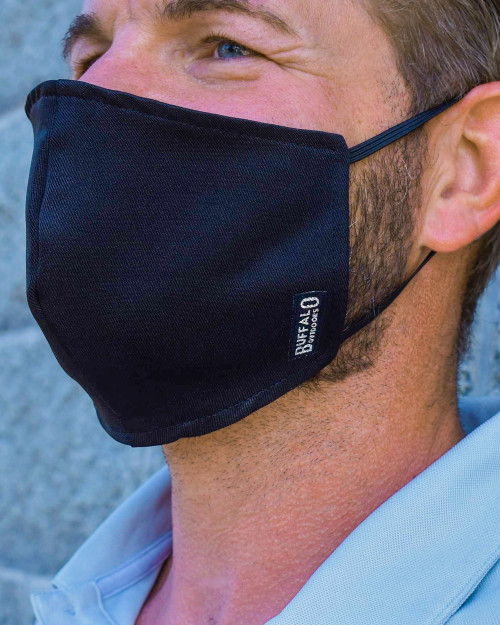 Buffalo Outdoors Charcoal-Black Washable Face Cover Side View
