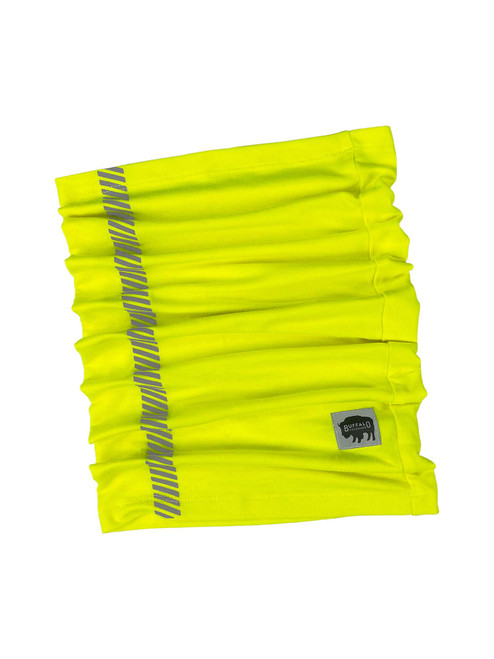 Buffalo Outdoors® Hi-Vis Yellow Neck/Face Gaiter Product Flat