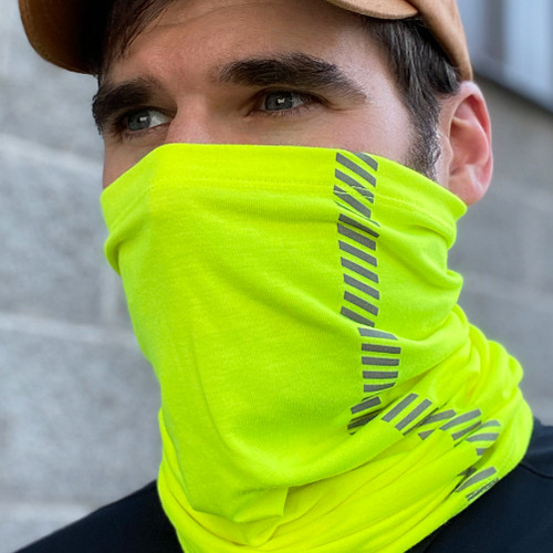 Buffalo Outdoors® Hi-Vis Yellow Neck/Face Gaiter Product Lifestyle