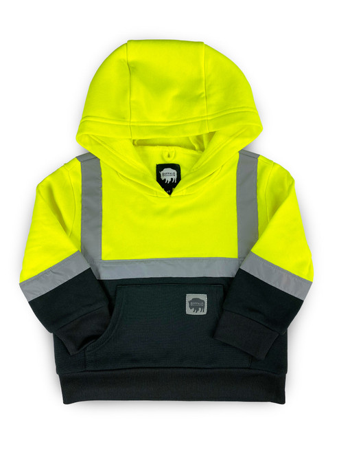 Buffalo Outdoors Hi Vis Reflective Safety Kid's Hoodie Front