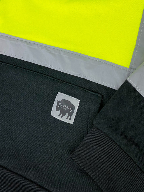 Buffalo Outdoors Hi Vis Reflective Safety Kid's Hoodie Detail