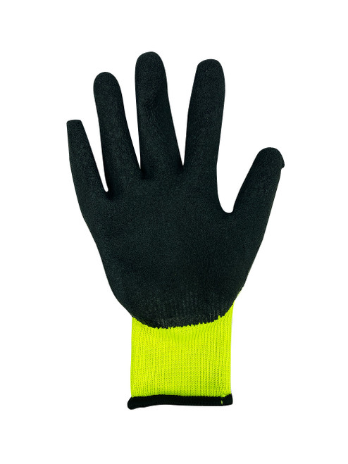 Hi Vis Latex Coated Knit Glove palm