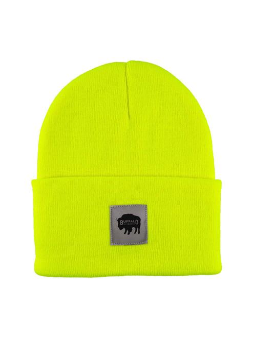Buffalo Outdoors Buffalo Winter Knit Reflective Work Hat Hi Vis Yellow