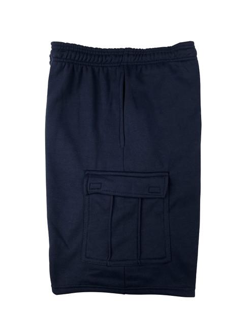 Buffalo Outdoors® Mens All-Season Fleece Lined Cargo Short Navy Blue Side