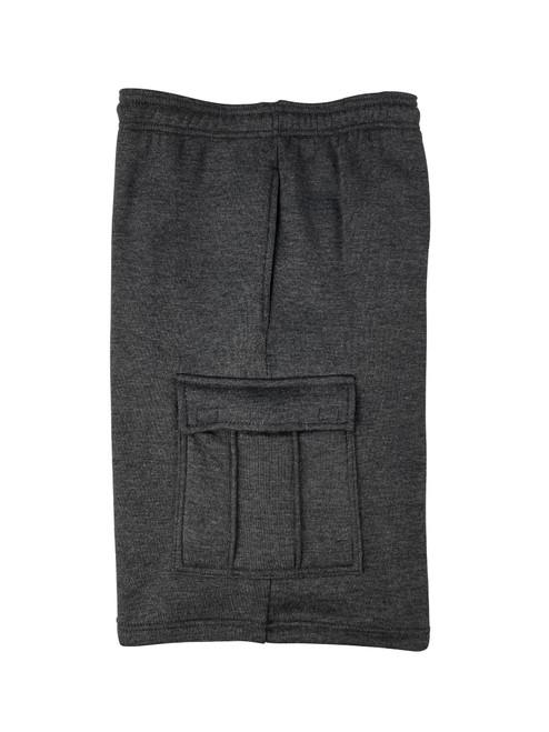 Buffalo Outdoors® Mens All-Season Fleece Lined Cargo Short Charcoal Side
