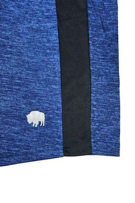 Buffalo Outdoors Men's Comfort Fit Athletic Shorts Blue Side Logo Detail