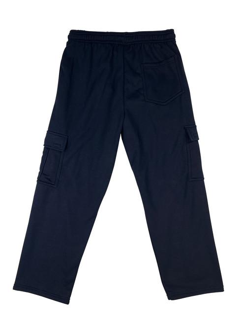Buffalo Outdoors Fleece Cargo Pants Navy Blue Back View