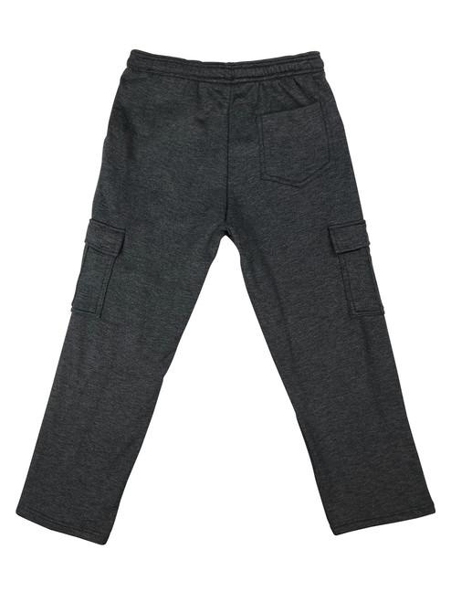 Buffalo Outdoors Fleece Cargo Pants Charcoal Back View