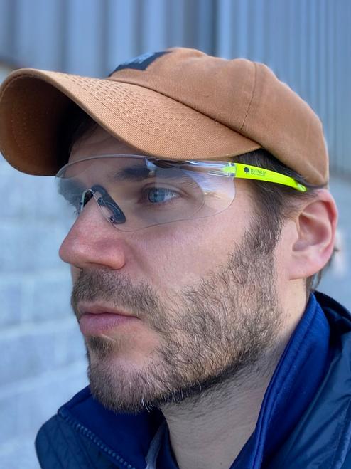 Buffalo Outdoors® Hi Vis Frameless Safety Glasses Lifestyle