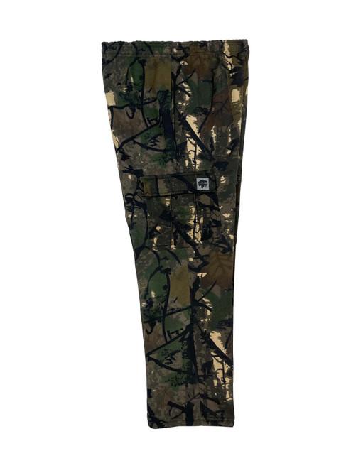Buffalo Outdoors® Fleece Cargo Pants - Camo Side