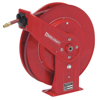 Reelcraft Heavy Duty Spring Retractable Hose Reels, 3/8 in x 50 ft (1 EA)