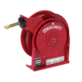 Reelcraft Gas-Welding T-Grade Hose Reels with Hose, 50 ft, Retractable (1 EA)
