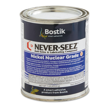 Bostik Never-Seez Nickel Nuclear Grade Compounds, 1 lb Flat Top Can (1 CAN)
