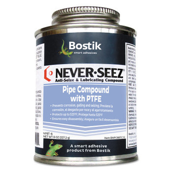 Bostik Never-Seez Pipe Compound, 8 oz Brush Top Can (12 CAN)