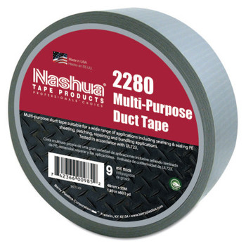 Berry Global 2280 General Purpose Duct Tapes, Silver, 55m x 48mm x 9 mil (1 RL)