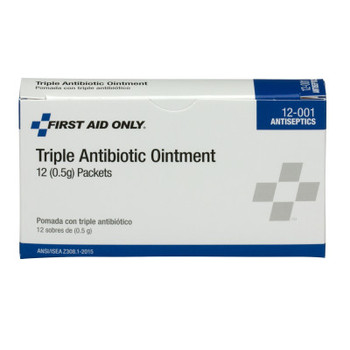 First Aid Only Triple Antibiotic Ointment, 0.5 g Individual Use Packets (12 EA)