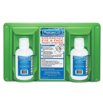First Aid Only Eye & Skin Flush Emergency Station/Replacement Twin Bottles, 16 oz (1 EA)