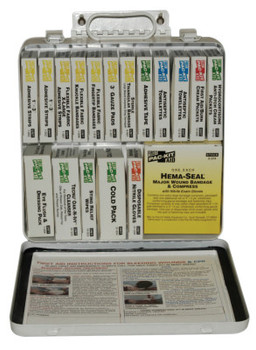 First Aid Only 24 Unit Steel First Aid Kits, Weatherproof Steel (1 KIT)