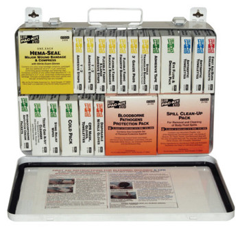 First Aid Only 36 Unit Steel First Aid Kits, Weatherproof Steel, Wall Mount (1 KIT)