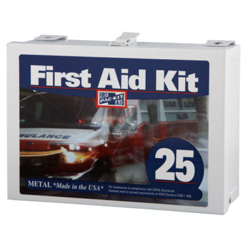 First Aid Only 25 Person Industrial First Aid Kits, Steel (non-gasketed), Wall Mount (1 KIT)