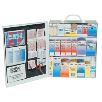 First Aid Only 3-Shelf Industrial First Aid Stations, Steel, Wall Mount (1 KIT)