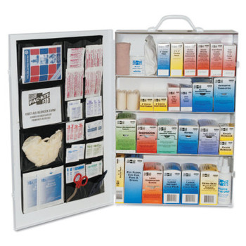 First Aid Only 4-Shelf Industrial First Aid Stations, Steel, Wall Mount (1 KIT)