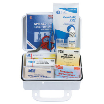 First Aid Only 10 Person ANSI Plus First Aid Kits, Weatherproof Plastic, Wall Mount (1 KIT)