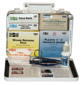 First Aid Only 25 Person Vehicle First Aid Kits, Weatherproof Steel, Wall Mount (1 KIT)