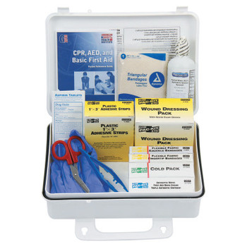 First Aid Only 25 Person ANSI Plus First Aid Kits, Weatherproof Plastic, Wall Mount (1 KIT)
